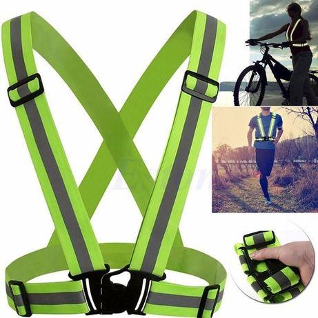 Vesta ham benzi bretele reflectorizante elastice bicicleta trotineta