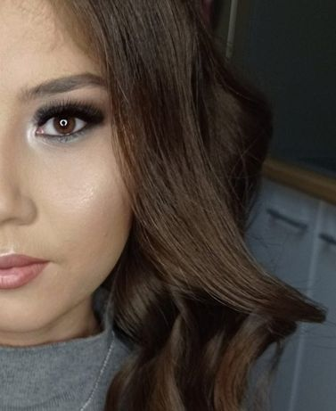 Майкап ресницы пучки макияж