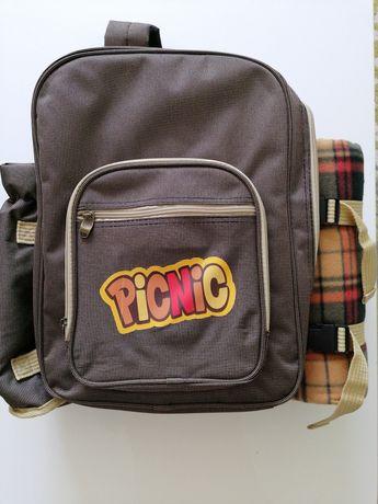 Rucsac picnic 4 persoane, complet echipat , nou - sigilat,