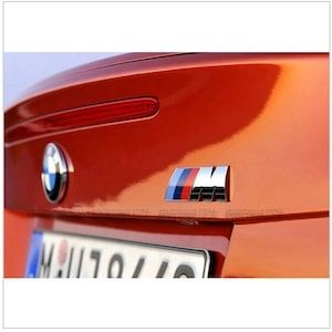 Emblema M power spate portbagaj BMW dimensiuni 3x9 cm