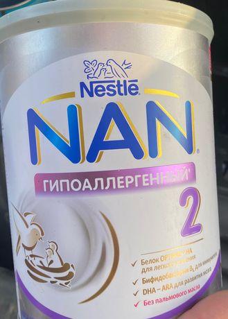 Nestle смесь Nan 2 Гипоаллергенный для детей с 6 месяцев 800 г