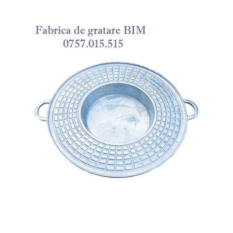 Gratar disc 51cm din aluminiu alimentar + manere + pirostrie cadou