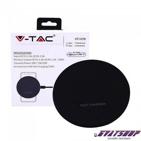 Безжично бързо зарядно/V-TAC VT-1210 Wireless Fast Charging Pad