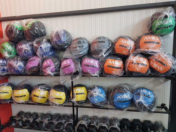 Медицински Топки Wall Ball 3-10 кг, Уол Бол Топка, Кросфит