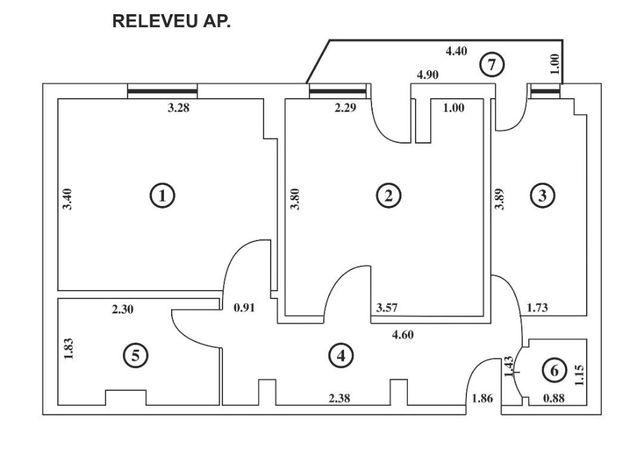 Vanzare apartament cu 2 camere