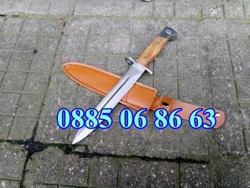 Армейски Нож Щик АК-47 СССР Колекция, Лов, Риболов + кожен калъф