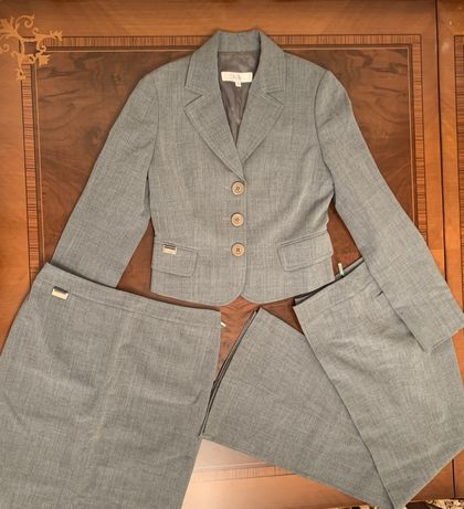 Женский брючный костюм, юбка. Брендовый By Bessini. Размер 42