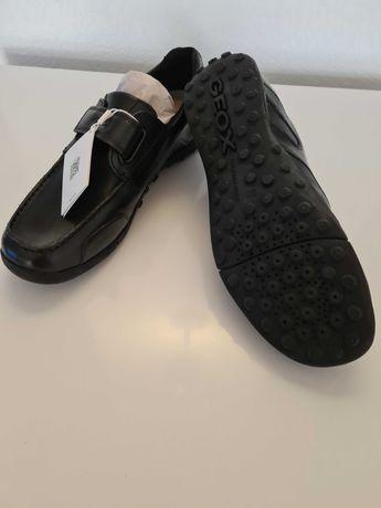 Мокасины — туфли кожаные для подростка р-р 38, Geox