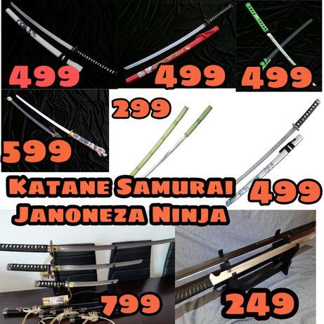 Katane Japoneze Otel Calit Katana Ninja Samurai Sabie