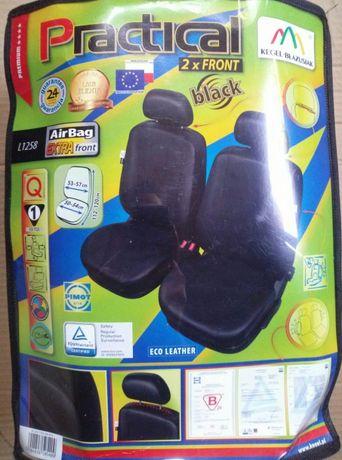Huse scaune din piele ecologica neagra