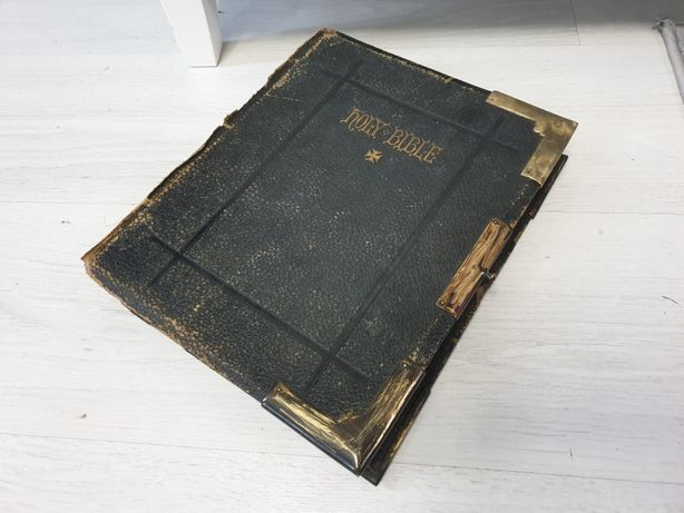 Biblia veche engleza ,holy bible 1854, colectie originala