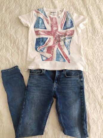 Pepe Jeans  Сет тениска и дънки