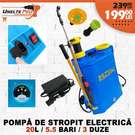 Pompa Stropit Electrica 12V si Manuala (2 in 1) 20L 5.5 bar