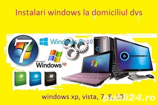 Instalare Windows+drivere+ programe calculator/laptop la domiciliu