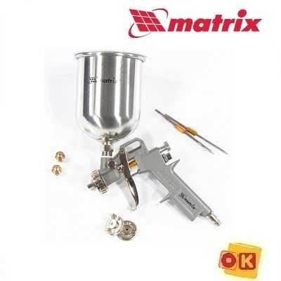 Краскораспылитель 1 л + сопла диаметром 1.2, 1.5 и 1.8 мм. MATRIX