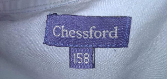 рубашки голубые хлопок chessford 164см -2шт, 158-1шт б/у