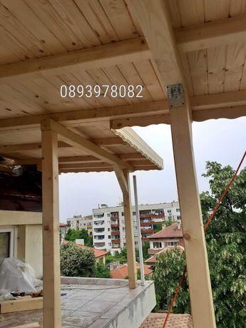 Ремонт на покриви изграждане на дървени навеси