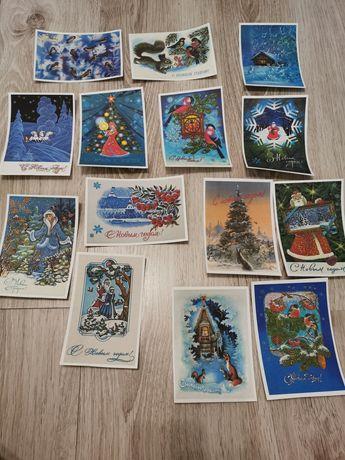 Советские открытки новогодние