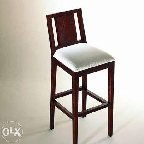 Бар стол с тапицерия - старо тиково дърво .ID BAST-VAL-U