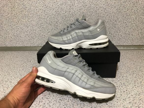 "ОРИГИНАЛНИ *** Nike Air Max 95 Leather / ""Wolf Grey White"""