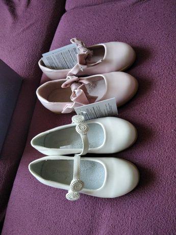 Туфли белые розовые бордовые новые 30 размер на девочку кожа