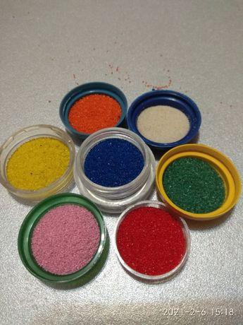 Цветной песок, песок для фресок, песок для творчества