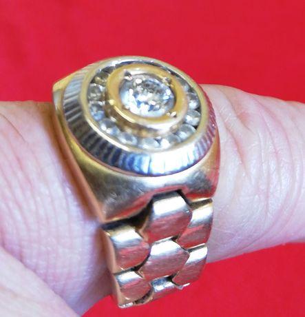 Inel aur zale flexibile Rolex Style 16 diamante