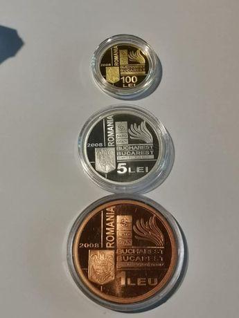 Set BNR, 3 Monede-Summitului NATO de la Bucureşti