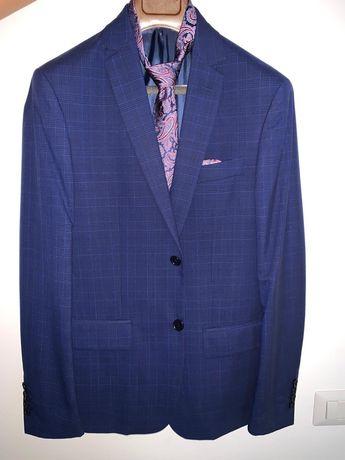 Costum Bigotti (sacou+pantaloni) cravata batista