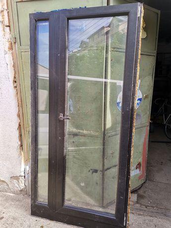 Ușa cu termopan gradina