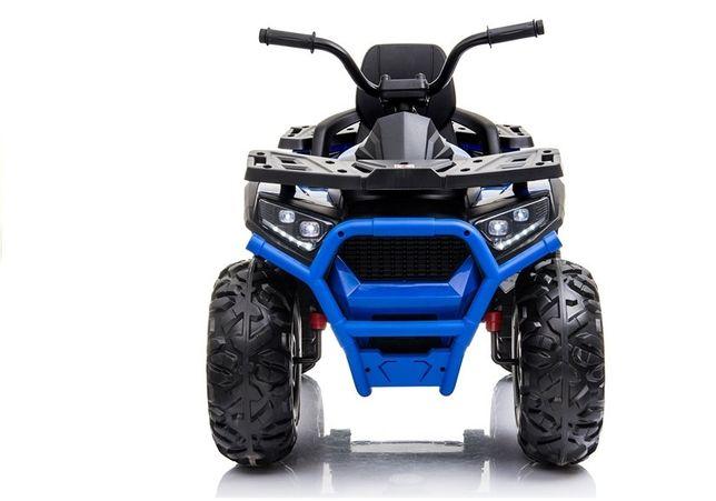 ATV electric pentru copii BJ607 900 12V 90W cu Scaun Tapitat #Albastru