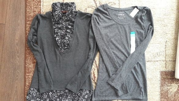 Две блузки с дълъг ръкав
