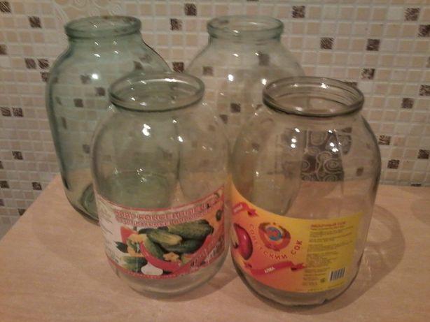 Банки стеклянные 1-2-3 литра