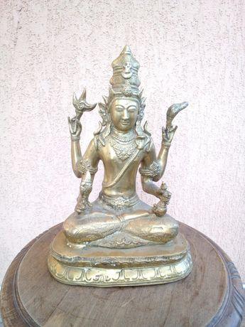 Statueta/ statuie Shiva bronz masiv, adusa din India, veche