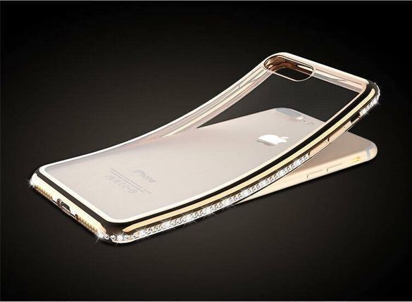 Кейс с камъчета за iPhone 6s 6s+/ 7 / 8 / 7+/8+/ X / XS / XR / XS Max