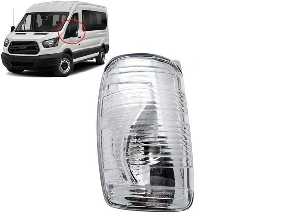 Мигач в огледало, бял за Ford Transit 2013-