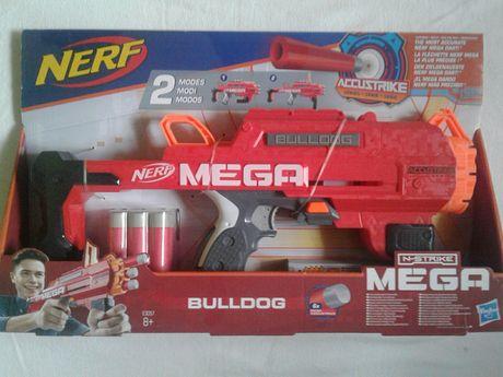 Arma joaca Nerf Bulldog cu 6 proiectile buretoase Mega, noua, sigilat
