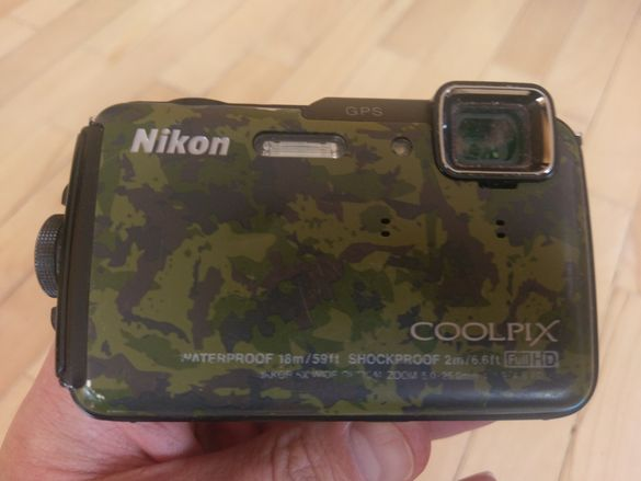 Фотоапарат nikon coolpix waterproof aw 100