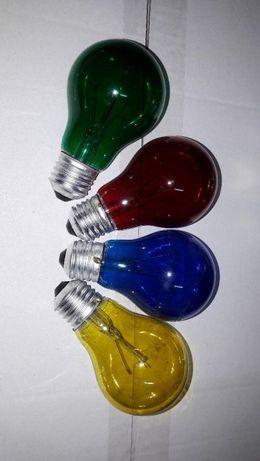 Becuri colorate 25w cu filament