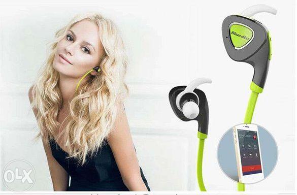 Продавам нови блутуут стерео слушалки за GSM BLUEDIO Q5