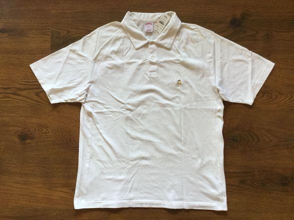 НОВА оригинална бяла памучна тениска BROOKS BROTHERS размер L от САЩ