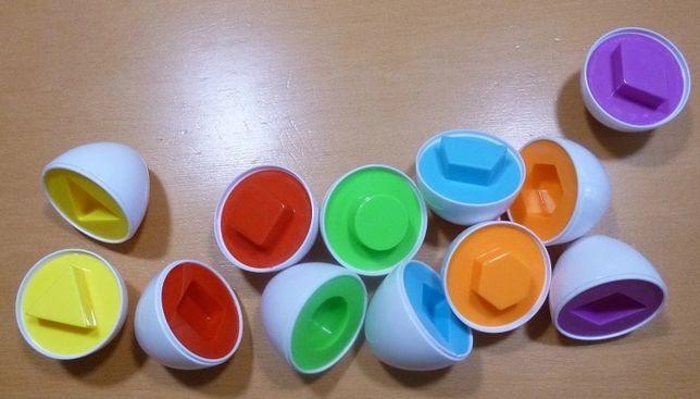 Set 6 oua cu forme geometrice/joc motricitate
