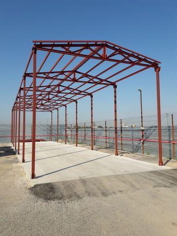 Метално хале ферма 6м/24м/5м, окомплектовано. Цена 7500 лв.