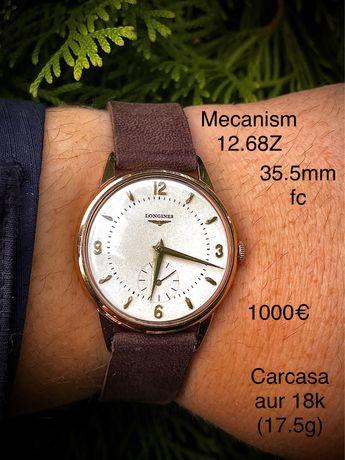 Ceas Longines carcasa aur 18K, 35.5mm