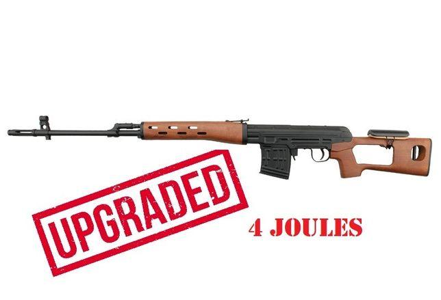 4 J reali Sniper airsoft Full Metal Dragunov propulsie Spring puternic