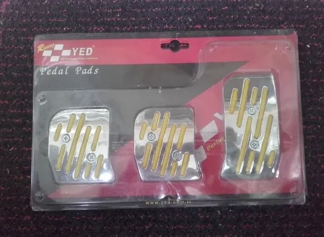 Pedal pads racing (pedale auto tuning yelow /crom) detasabile