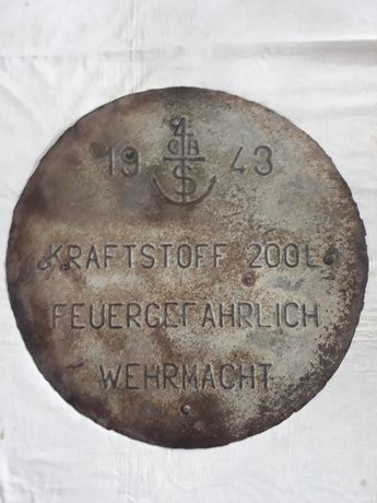 Capac butoi Wehrmacht, ww2, 1943 / Wehrmacht barrel cover