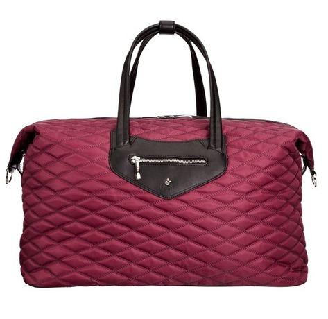 Knomo-луксозна кожена елегантна дамска чанта цвят червен-черен