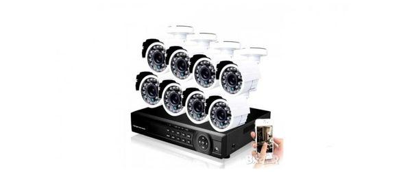 Комплект за видеонаблюдение Automat - 8 канален AHD с 8 камери връзка