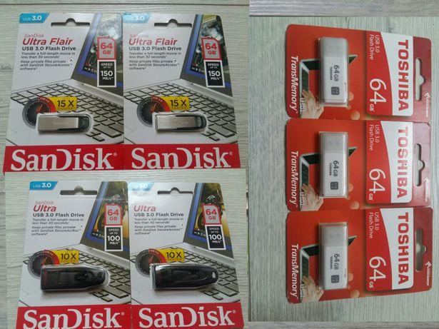 Stick memorie USB 64Gb 3.0 SanDisk si Toshiba